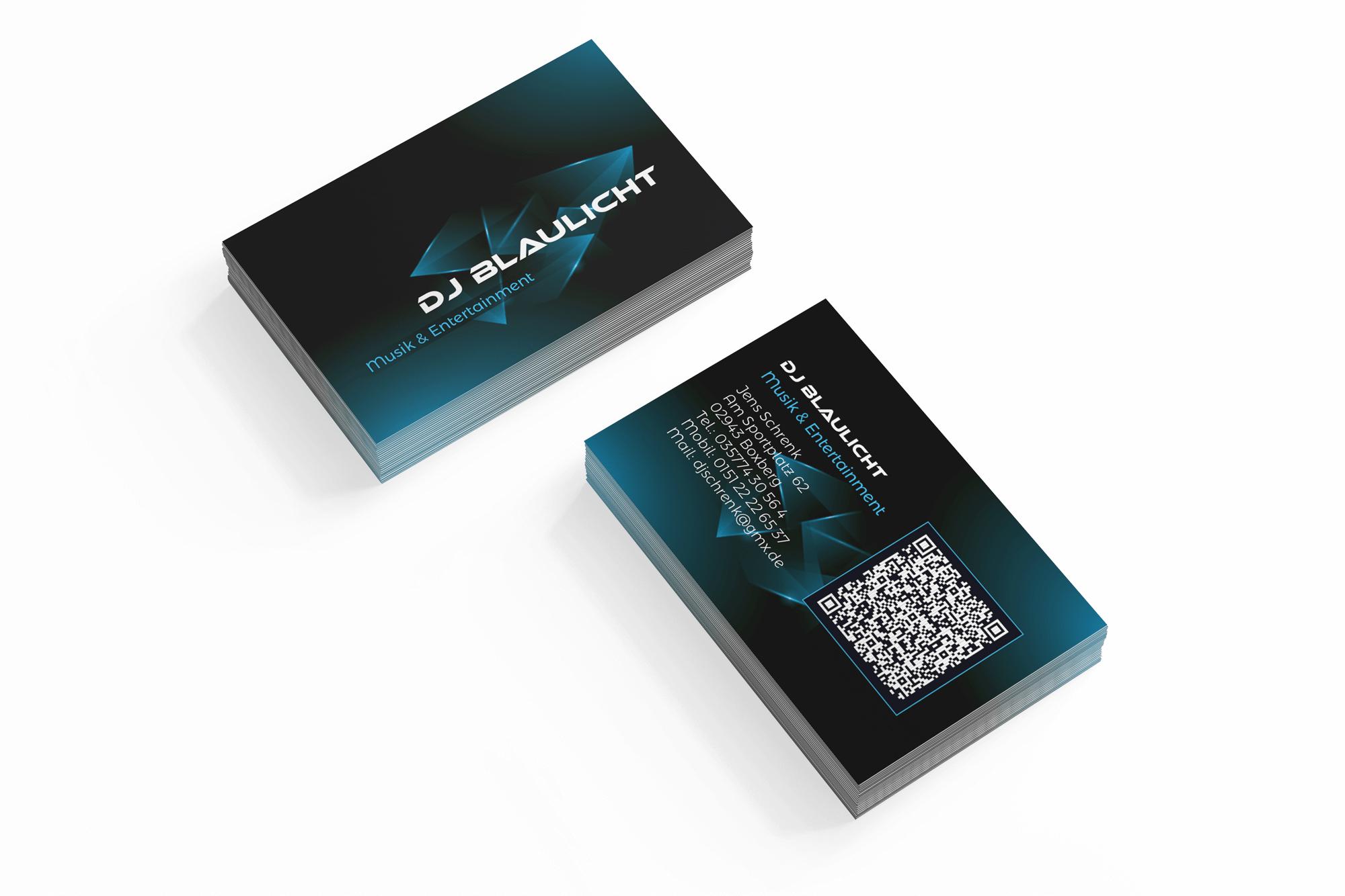 erstellung visitenkarte